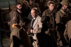 Harry's back on the Dunkirk set with Mark Rylance