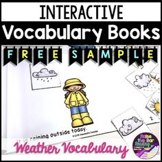 Interactive Printable Mini Book - Weather Vocabulary Theme