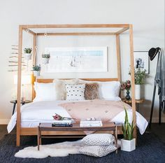 Room & Board Oatmeal Canopy