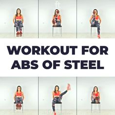 Workout for Abs of Steel This is it! Abs of steel, washboard abs, stronger core, no more back pain… whatever your goal is in terms of your abdominal, this workout is only 6 minutes. The post Workout for Abs of Steel appeared first on Welcome! Fitness Workouts, Gym Workout Videos, Gym Workout For Beginners, Fitness Workout For Women, Ab Workout At Home, Easy Workouts, At Home Workouts, Chair Abs Workout, Morning Ab Workouts