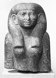 Head and Torso of a Statue of a Woman Seated