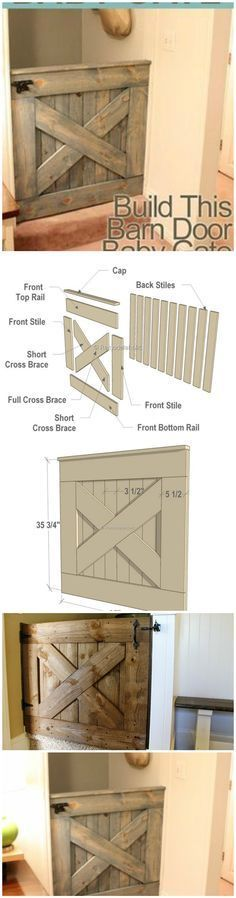 DIY Barn Door Baby Gate – Free Plans #DogGate