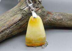 Beautiful Genuine Natural Butterscotch Baltic Amber Pendant Necklace