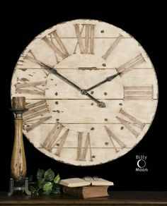 "Harrington Clock 36"" diameter  only $233  contact jackieculleydesign@gmail.com to purchase"