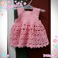 Elisabeth.H hobbyside: Heklet Baby kjole.
