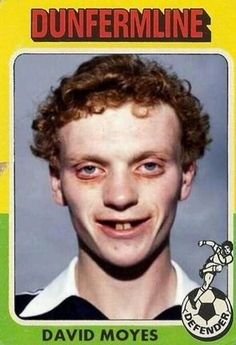 Awful, is the word to describe this early photo of David Moyes.