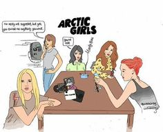 What if all the girls described in Arctic Monkeys' songs meet all together in a bar? <<<<<<< This is awesome! Arctic Monkeys, Ghost Cookies, Monkey Girl, The Last Shadow Puppets, Memes, I Laughed, Alex Turner, Indie, Family Guy