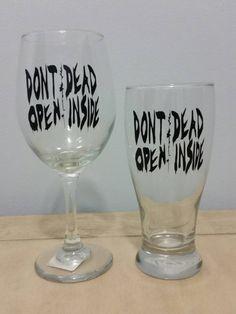 Don't Open Dead Inside Walking Dead Inspired Wine and by KissMade