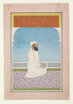A Holy Man Seated on a Terrace Date: ca. 1850 Culture: India (Punjab Hills, Kangra)