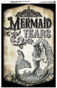 mermaid tears label - Google zoeken