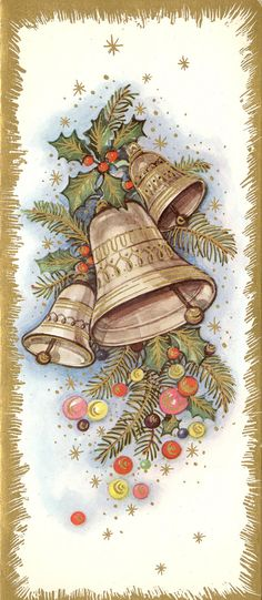 Vintage Christmas bells Source by