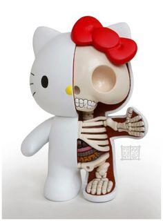 Hello Kitty's anatomy