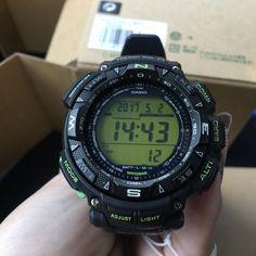 3c02d5eefa8 นาฬิกาข้อมือ Casio Protrek รุ่น PRG-240-1BDR นาฬิกาสำหรับผู้ชายที่รัก. G  Shock ...