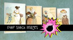 Historical Women's Fashion Plates - $7.50    The collection offers snapshots of many periods throughout history, with images averaging 6″ x 9″. They are the perfect fodder for girly notecards, stationery, and scrapbook layouts.