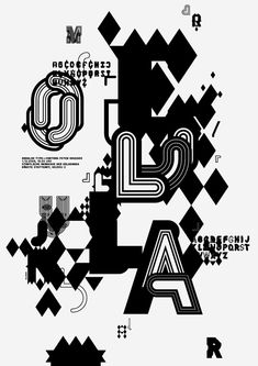 MODULAR TYPE / We designed two typefaces which are based on a modular system. / by VISOTYPEN