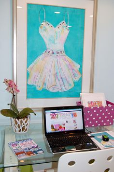 In the Art Studio and Home Office: my workspace