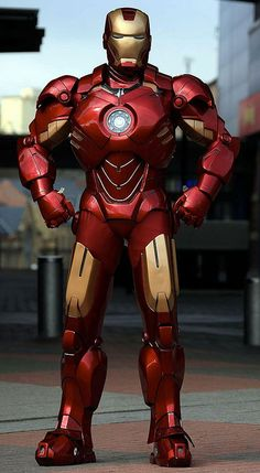Unbelievable homemade Iron Made suit crafted from cardboard and fiberglass.