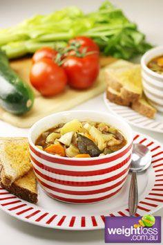 Healthy Soup Recipes: Hearty Minestrone Soup. #HealthyRecipes #DietRecipes #WeightlossRecipes weightloss.com.au