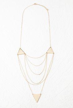 Collar Cadenas y Triángulos