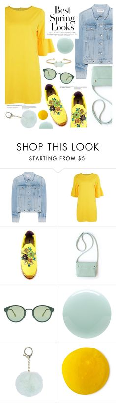 """""""Untitled #3073"""" by deeyanago ❤ liked on Polyvore featuring rag & bone, Dolce&Gabbana, RetroSuperFuture, H&M, Eve Snow, Treasure & Bond, yellowdress and lalaland"""