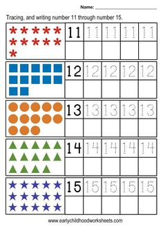 Tracing And Writing Numbers Worksheets – Free Worksheets Samples 1st Grade Math Worksheets, Number Worksheets, Tracing Worksheets, Kindergarten Worksheets, Montessori Math, Preschool Math, Math Activities, Beginning Sounds Kindergarten, Numbers Kindergarten