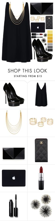 """""""party time!"""" by ines-nene-pt ❤ liked on Polyvore featuring Casadei, STELLA McCARTNEY, White House Black Market, UN United Nude, Chanel, MAC Cosmetics, Bobbi Brown Cosmetics and BERRICLE"""