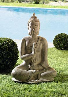 Grosser Buddha Einklang Grau