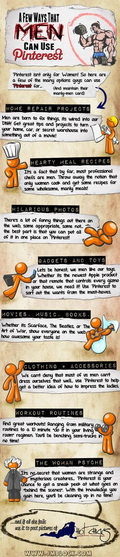 Infographic: How men can use Pinterest and stay manly!
