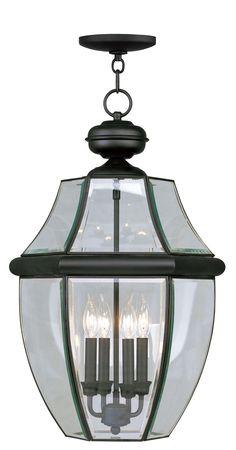 Livex Lighting Monterey Black Outdoor Chain Lantern 2357-04