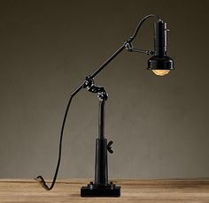 Cast-Iron Sewing Factory Task Table Lamp