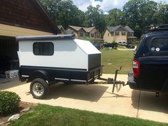Utility trailer teardrop/ off roadish camper build - Expedition Portal Home Made Camper Trailer, Utility Trailer Camper, Used Camping Trailers, Small Camper Trailers, Small Camping Trailer, Small Campers, Travel Trailers, Micro Campers, Jeep Camping