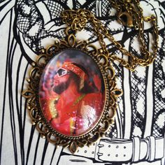Macho Man Vintage Wrestling Trading Card Necklace