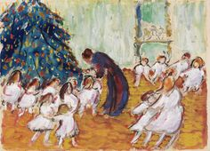 Marianne von Werefkin (1879-1938) Weihnachtsbaum - Christmas (1911) tempera and watercolor over pencil n wove paper laid on board 30 x 42.3 cm