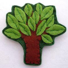 Felt tree pin