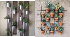 Jardines verticales: ideas para crear el tuyo Porch Plants, Outdoor Gardens, Planter Pots, Succulents, New Homes, Bouquet, Home And Garden, House Design, Patio