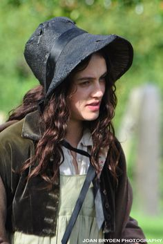 Jessica Brown Findlay in the BBC drama, Jamaica Inn filmed at Kirkby Lonsdale 2013