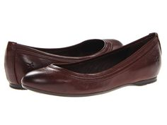 Frye Agnes Ballet Dark Brown Antique Soft Vintage. $168?!? But they look so comfortable. And I'm picky about flats.
