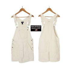 a63c9887ff80 Womens Overalls- Overall Shorts- White Overall Shorts- White Overalls- Denim  Overalls- Ladies Overalls- Polo Jeans Co- Ralph Lauren