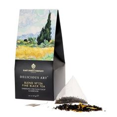 £7.50 - Blend no. 126 Fine Black Tea – Darjeeling 2nd Flush TGFOP & Marigold. Inspired by Van Gogh's A Wheatfield with Cypresses this Darjeeling fine tea embodies the bright and colourful scene in the painting. #tea