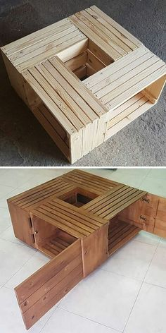 Use Pallet Wood Projects to Create Unique Home Decor Items Pallet Projects Diy Garden, Diy Wooden Projects, Small Woodworking Projects, Used Pallets, Recycled Pallets, Wooden Pallets, Pallet Sofa, Pallet Furniture, Pallet Tables