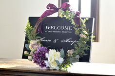 Welcome floral design Ceremony Decorations, Flower Decorations, Wedding Welcome Board, Flower Bouqet, Samantha Wedding, Tiffany Wedding, Wedding Wows, Wedding Reception Tables, How To Preserve Flowers