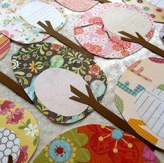 Arbres - Friendly forêt feuillage affectueux Collection de papier
