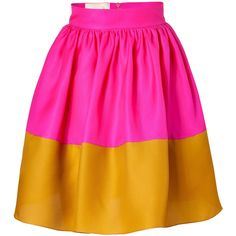My $20 DIY version of ROKSANDA ILINCIC  $498 Hot Pink and Mustard Silk Organza Full Skirt by Sewlovable,via Polyvore  $