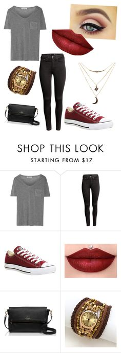 """""""Outfit 1"""" by taylor-ross115 on Polyvore featuring T By Alexander Wang, H&M, Converse, Kate Spade and Charlotte Russe"""