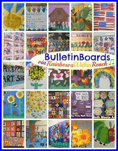 Awesome Bulletin Board Round-UP via RainbowsWithinReach (All Seasons!!)