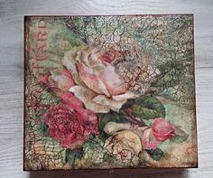 Jewerly box, Vintage jewerly box, Box roses, Decorative box, Keepsake box, Gift box, Love box, Red box with roses, Jeseler, Decopauge, de tossart en Etsy
