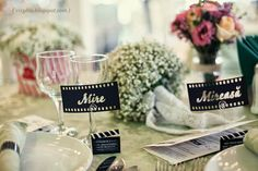 Cinema wedding theme