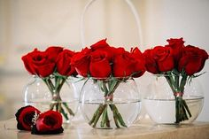 Red Rose Centerpiece  | Fairytale Wedding I Beauty and the Beast Wedding Ideas
