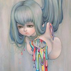 'My Disassembled Rainbow' by @helmetgirls. Find out more about Camilla and see more of her wonderful art in her interview at wowxwow.com. (anime, comics, girls, illustration, illustrator, manga, narrative, nature, pop surrealism, story, storytelling, surreal, wildlife, contemporary art, new contemporary art)