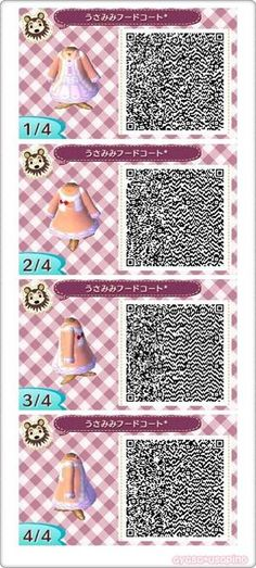 ACNL QR CODE-Dress with Bunny Hood Jacket